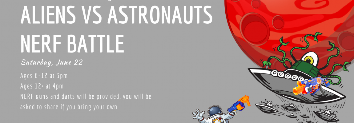 Aliens vs Astronauts NERF Battle