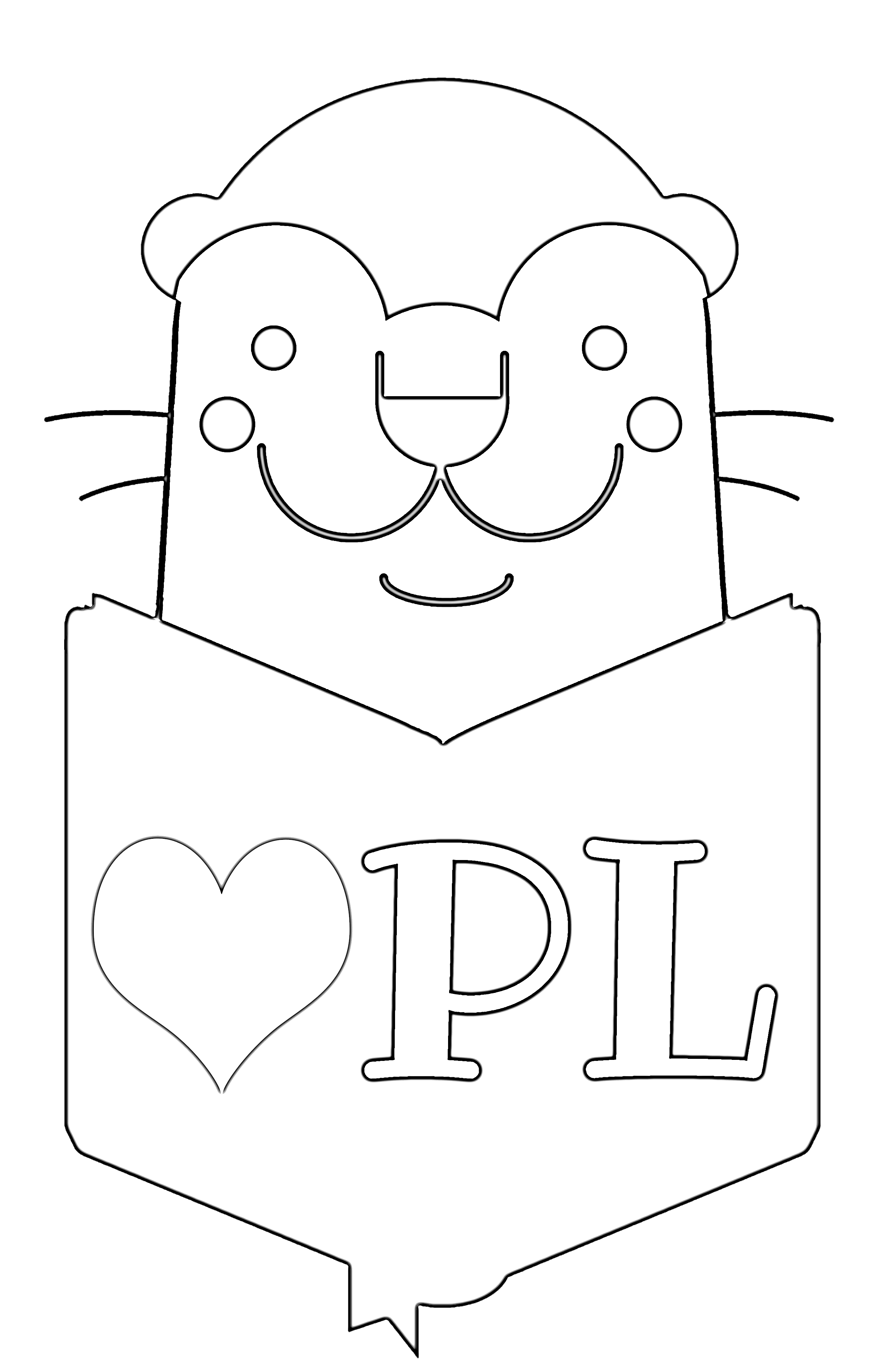 You Otter Try Opal The Otter Coloring Pages Otterbein Public Library