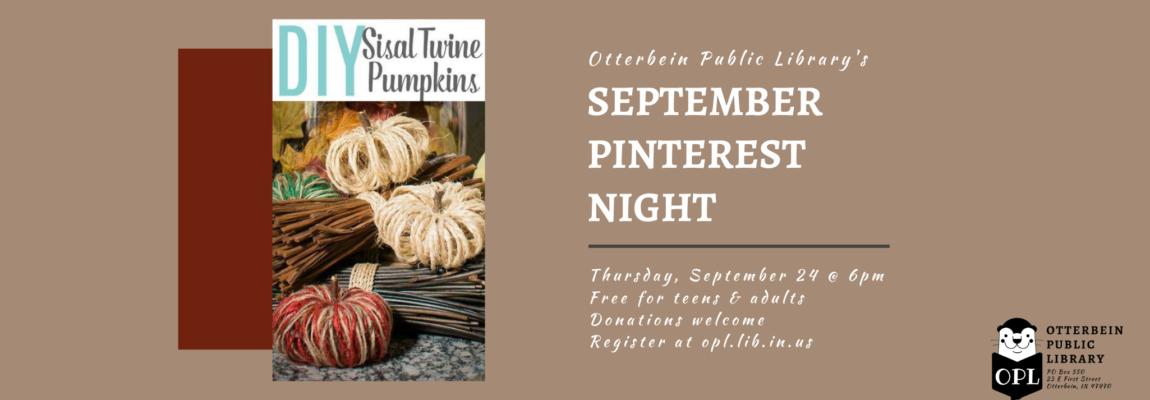 September Pinterest Night: 09/24