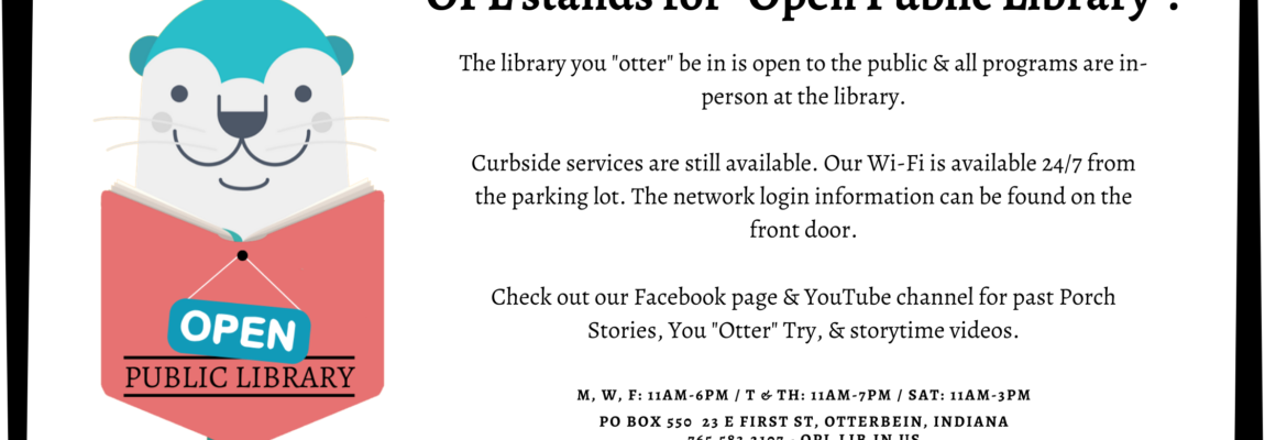 "OPL Stands for ""Open Public Library""!"
