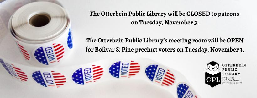 Library Closing: November 3
