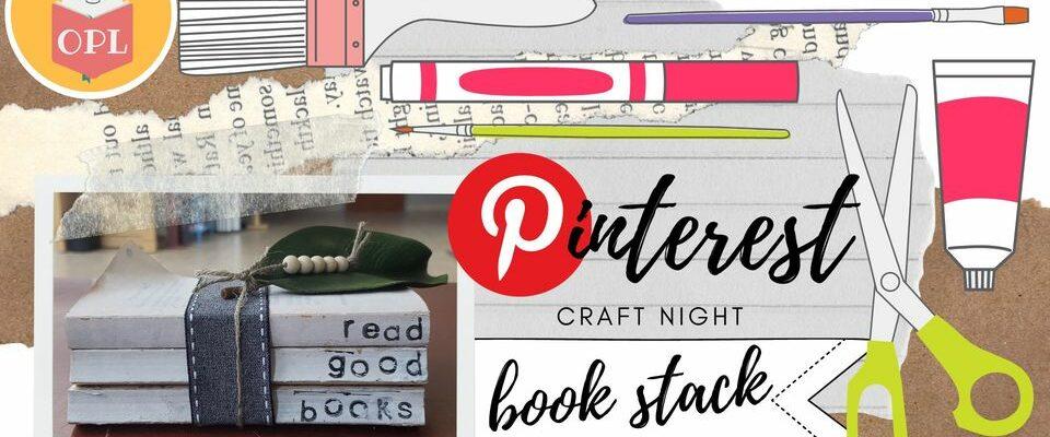 Pinterest Night July 29th 6pm